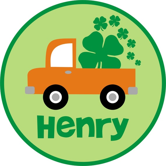 Personalized St. Patrick's Day T-Shirt - Truck with Shamrocks