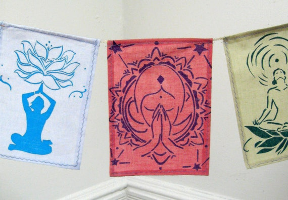 Yoga Meditational Prayer Flags / Latest edition set