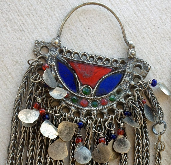 Small Kuchi Pendant (1): Tribal Jewelry Assemblage Supplies