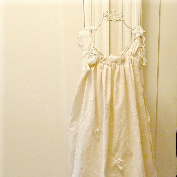 Toddlers Flower Garden Dress Custom Tea Length Wedding Dress Gown Ivory or
