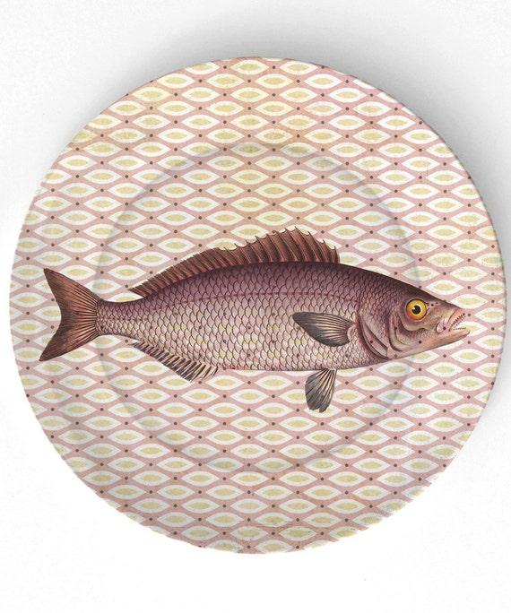 Sea Life Fish IIII - 1800s Ernst Haeckel - 10 inch Melamine Plate