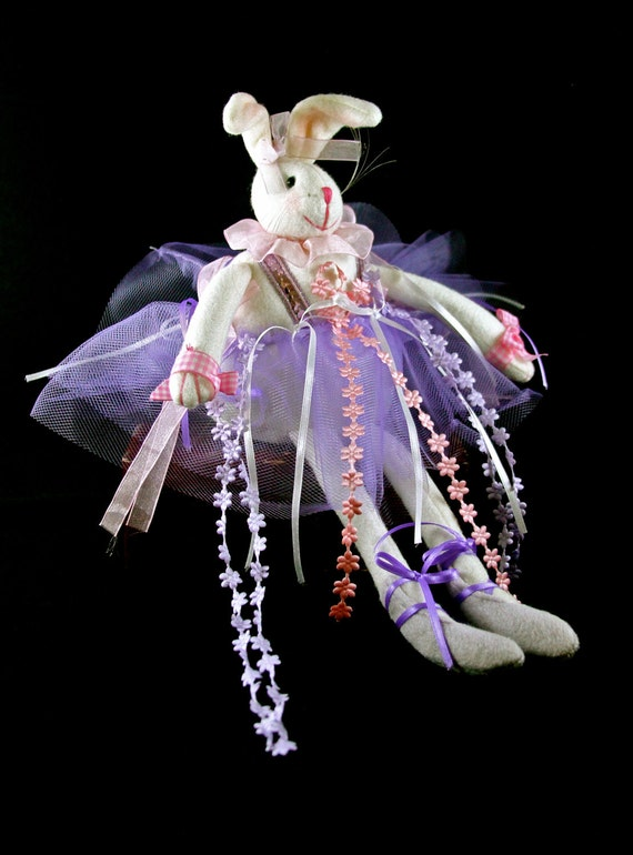Easter Home Decor Frilly Ballerina BUNNY