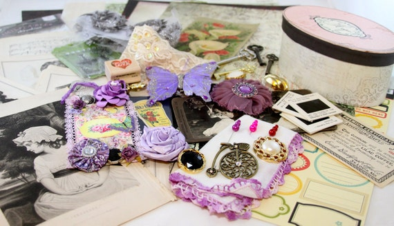 Lavender Dreams Project Scrapbook Embellishment KIT