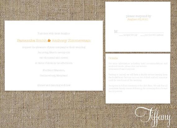 DIY Wedding Invitations - Tiffany