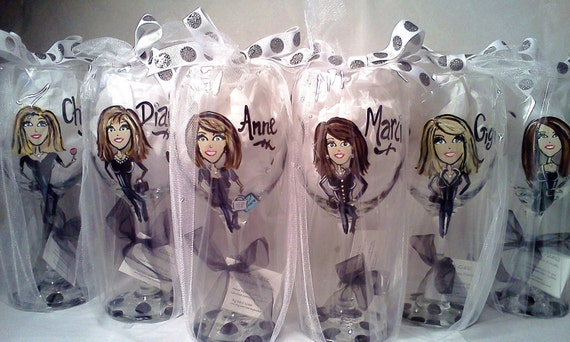 Fabulous Friends' Hand Painted & Personalized Wine Glass by My3Graces