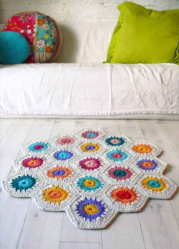 Rug Crochet - hexagon square