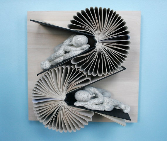 Double Book Birdie (Original Sculpture)