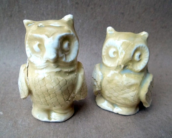 TWO Ceramic Owls  Seconds Sale