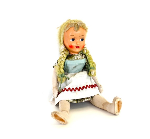 From the Lime Orchard - Vintage Cloth Doll