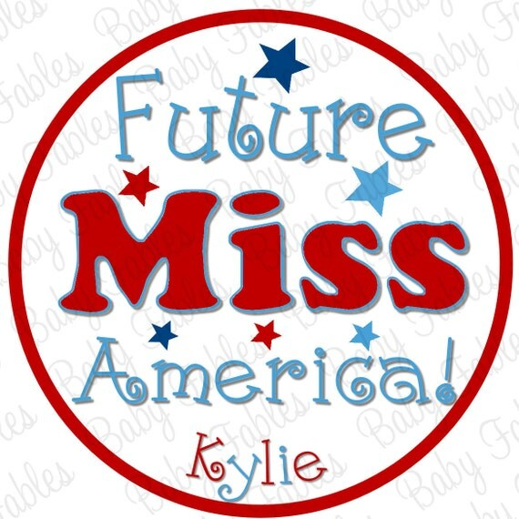 Iron on Transfer - Miss America - 4th of July