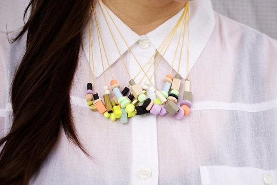 pastel mixed bead necklace no. 3