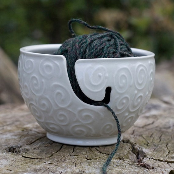 White Yarn Bowl, 'The Wooly', made by Bunny Safari