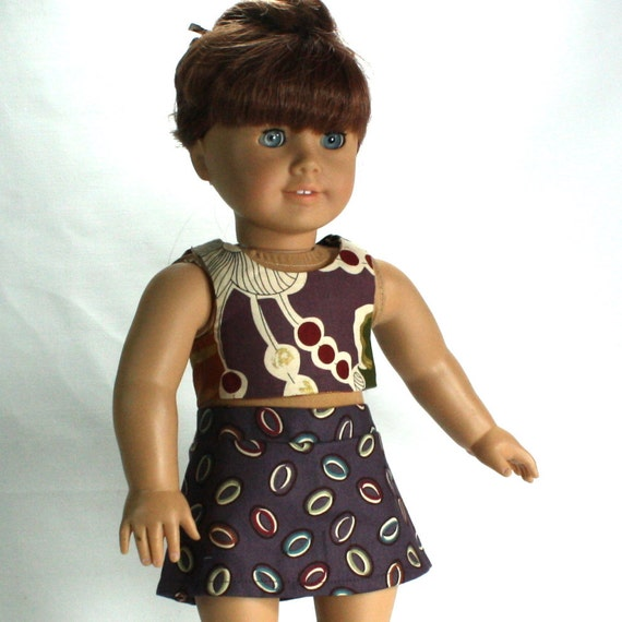 Halter and Skort  2 Piece Set fits 18 in American Girl Doll