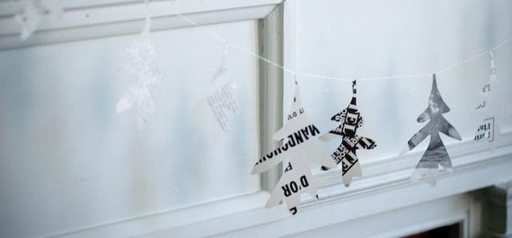 paper crafts for kids: silver oak garland