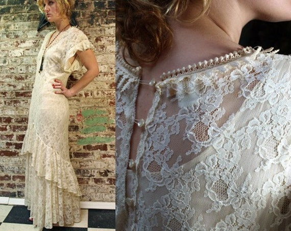 Lorrie Kabala Boho Wedding Gown M From isidoraverde