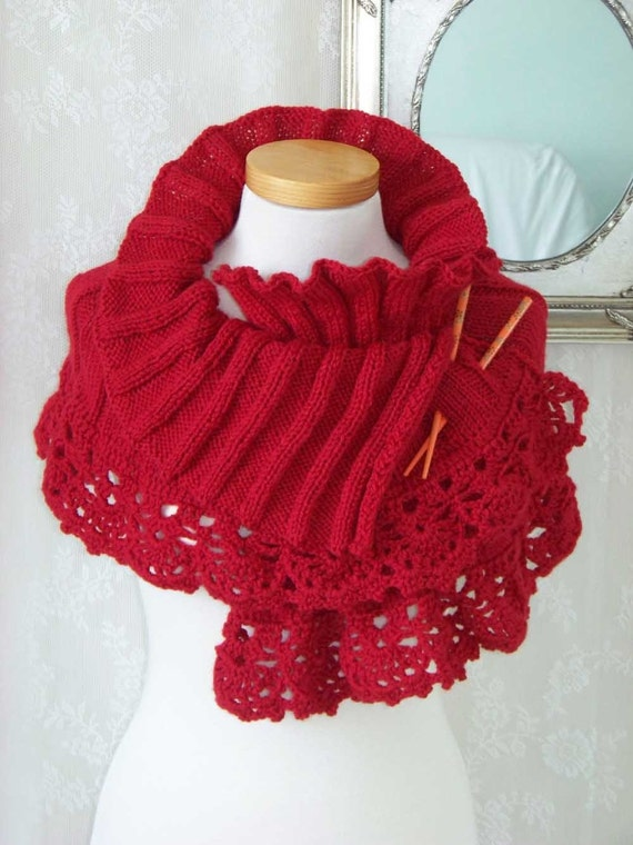 Elegant warm red capelet