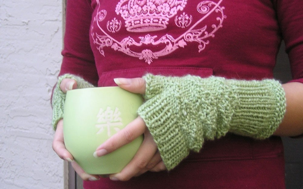 Knit Fingerless Gloves Pattern - Helping Hearts for Cheyenne River