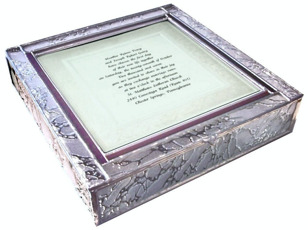 Stained Glass Wedding Invitation Keepsake Box From BazaarGlass