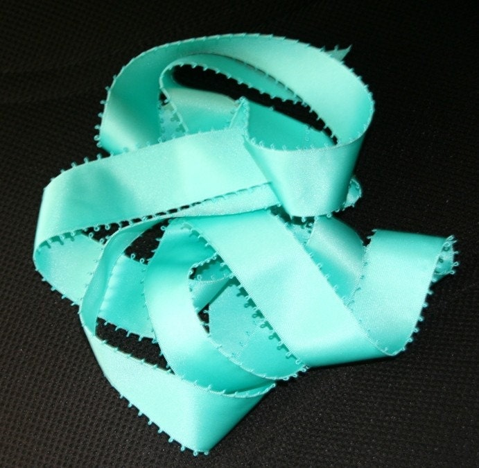 Tiffany Blue Ribbon Bridal Bouquet Wrap From TheTiffanyBlueShop