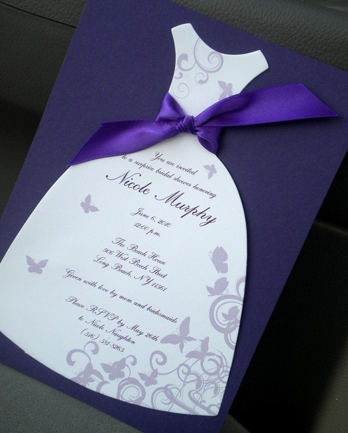Butterfly Bridal Shower Invitations wedding shower clip art