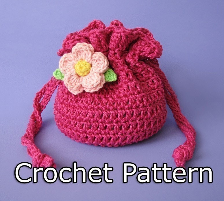 Crochet Wristlet Purse Pattern : CROCHET STRING BAG PATTERN Crochet For Beginners