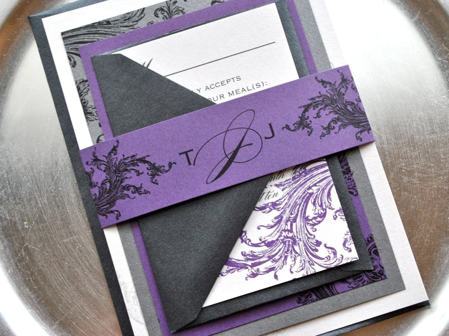 Purple And Silver Wedding Invitations 029 - Purple And Silver Wedding Invitations
