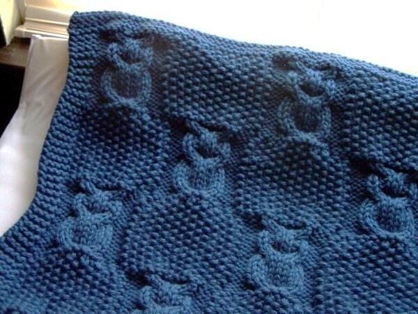 Knitting Pattern Central Free Patterns : Basketweave Baby Blanket Knitting Pattern