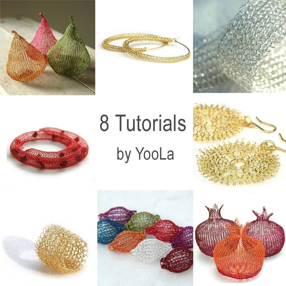 Wire Crochet Patterns and Tutorials - Wire jewelry making, from