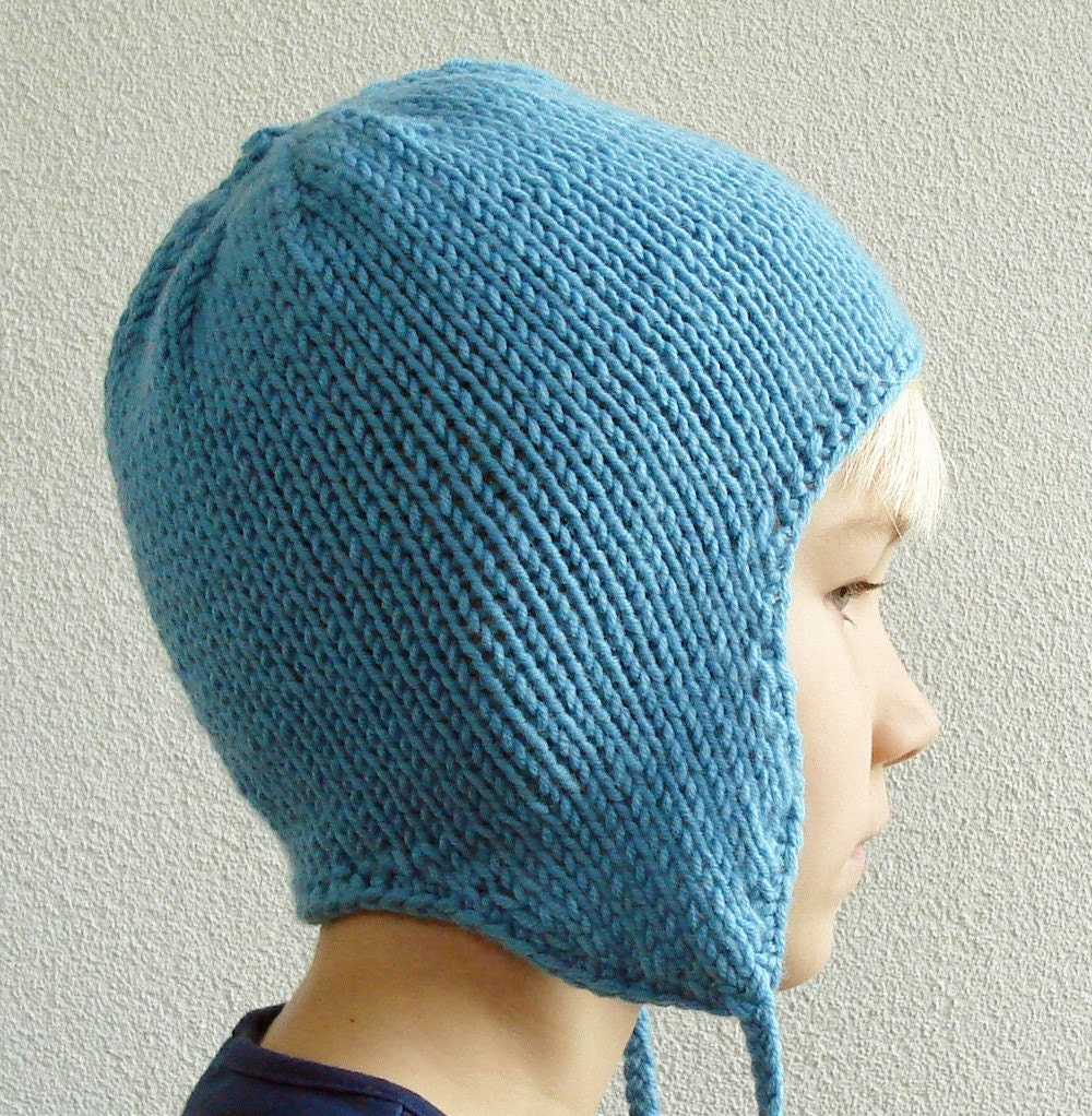 Jananas » Basic Ear Flap Hat Knitting Pattern