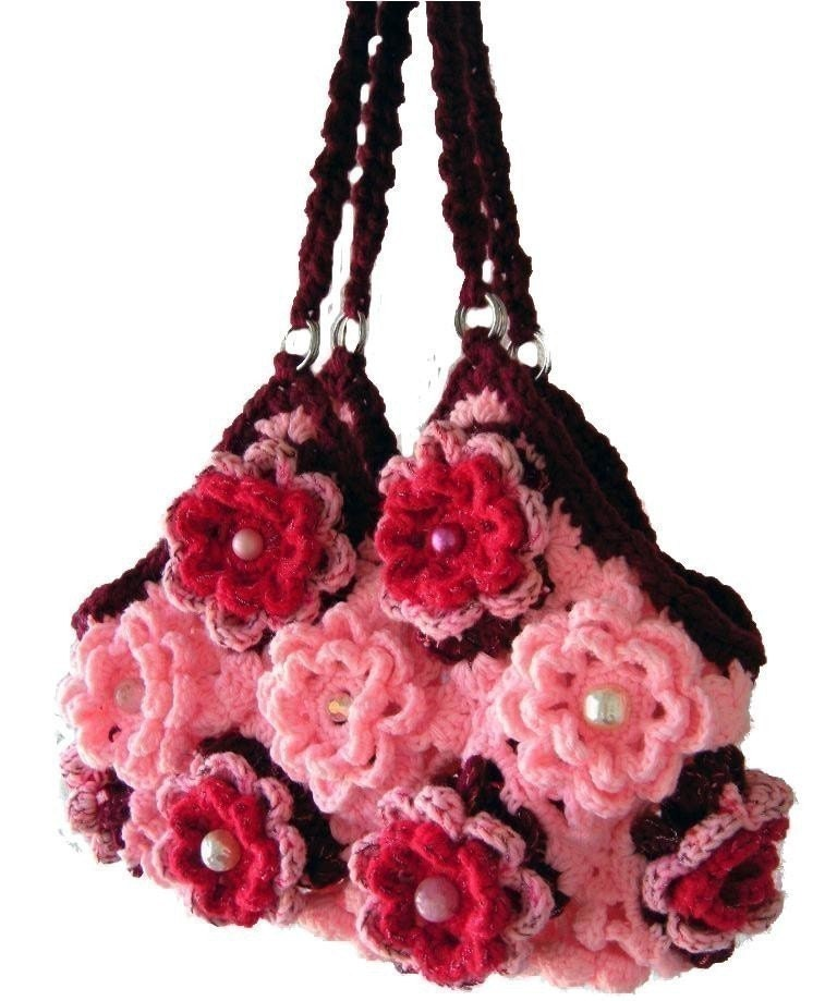 Crochet Handbag Pattern : Free Crochet Handbag Patterns, Handbag Crochet Pattern
