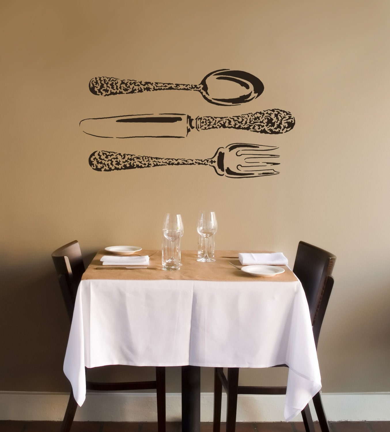 Wall Stencil kitchen Pinterest