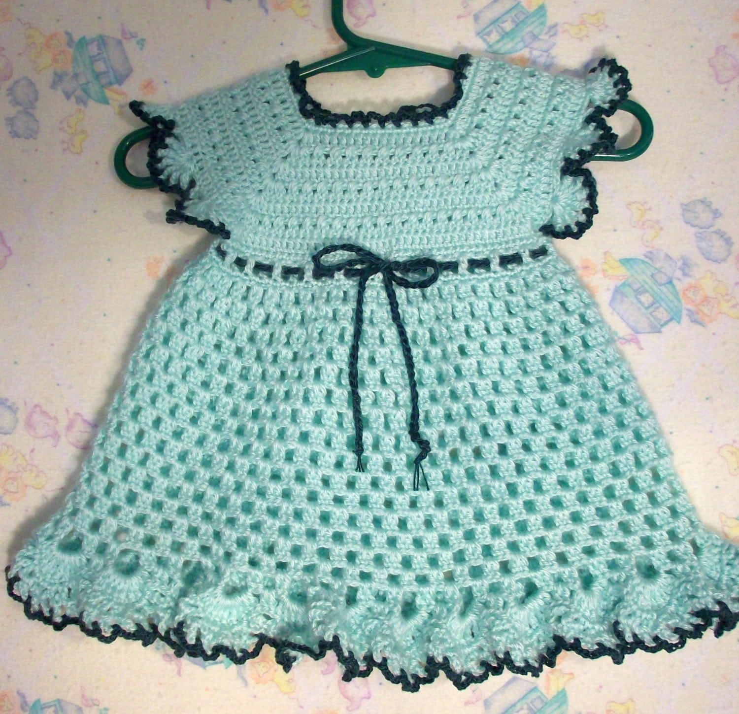 Crochet Baby Dress - Solomon's Knot - YouTube