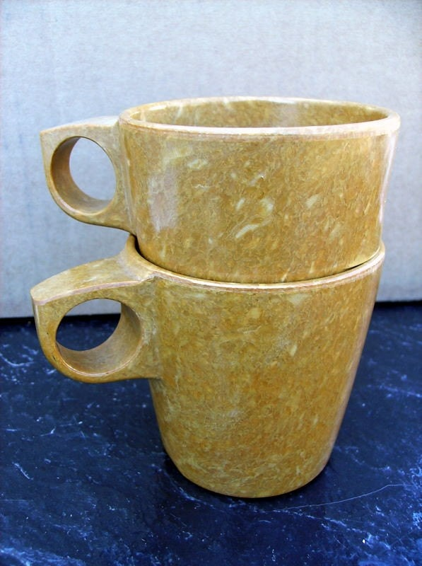 Speckled Melmac Mugs