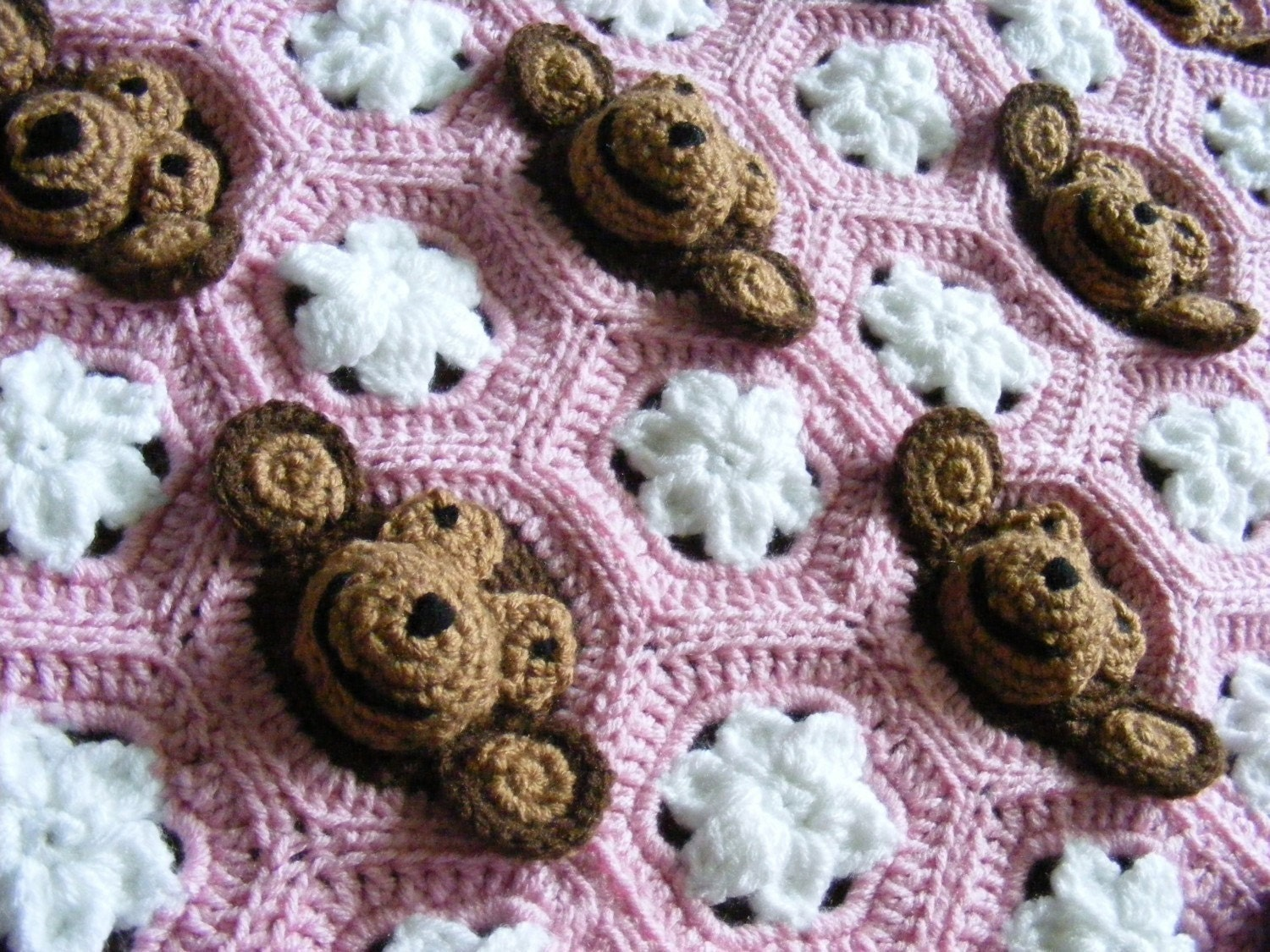 Crocheted Hooded Baby Blanket Pattern Crochet And