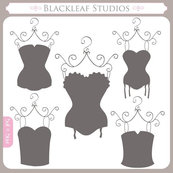 Corsets Silhouettes corsets bridal shower shabby chic lingerie shower