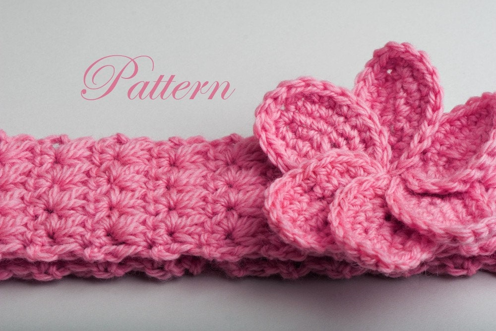 Free Crochet Pattern Flowers Headbands : CROCHET BABY HEADBAND PATTERNS Free Patterns