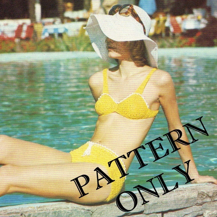 Crochet pattern - bikini. From CottageCreationsForU