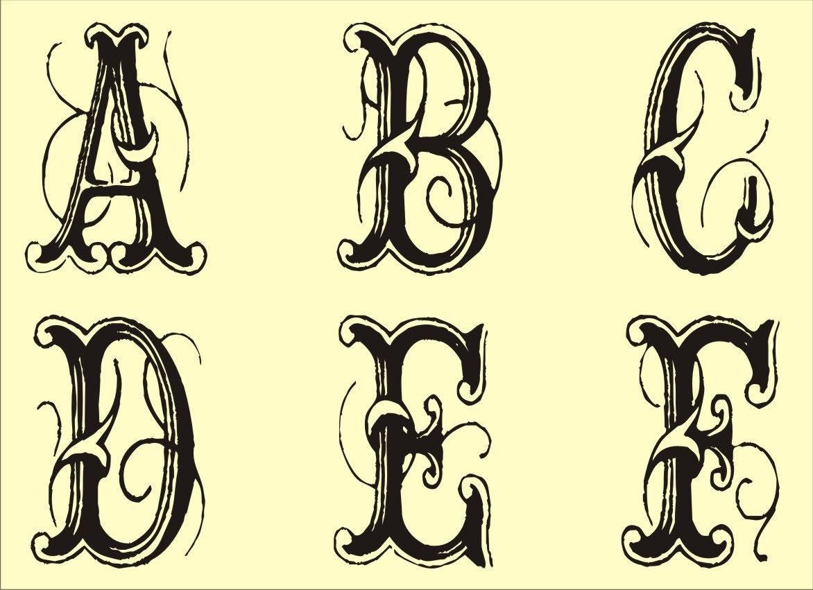 Fancy Scroll Alphabet Letter Stencils http://yoursoftwarebuy.com ...