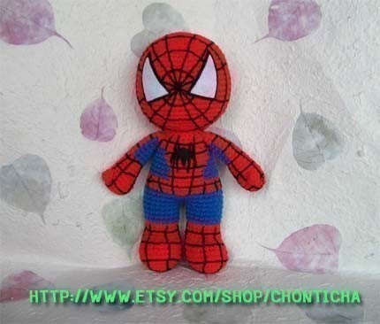 spiderman doll on Etsy, a global handmade and vintage marketplace.