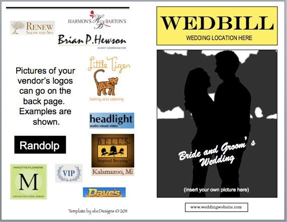 Wedbill A Playbilllike Wedding Program Template From bergrens