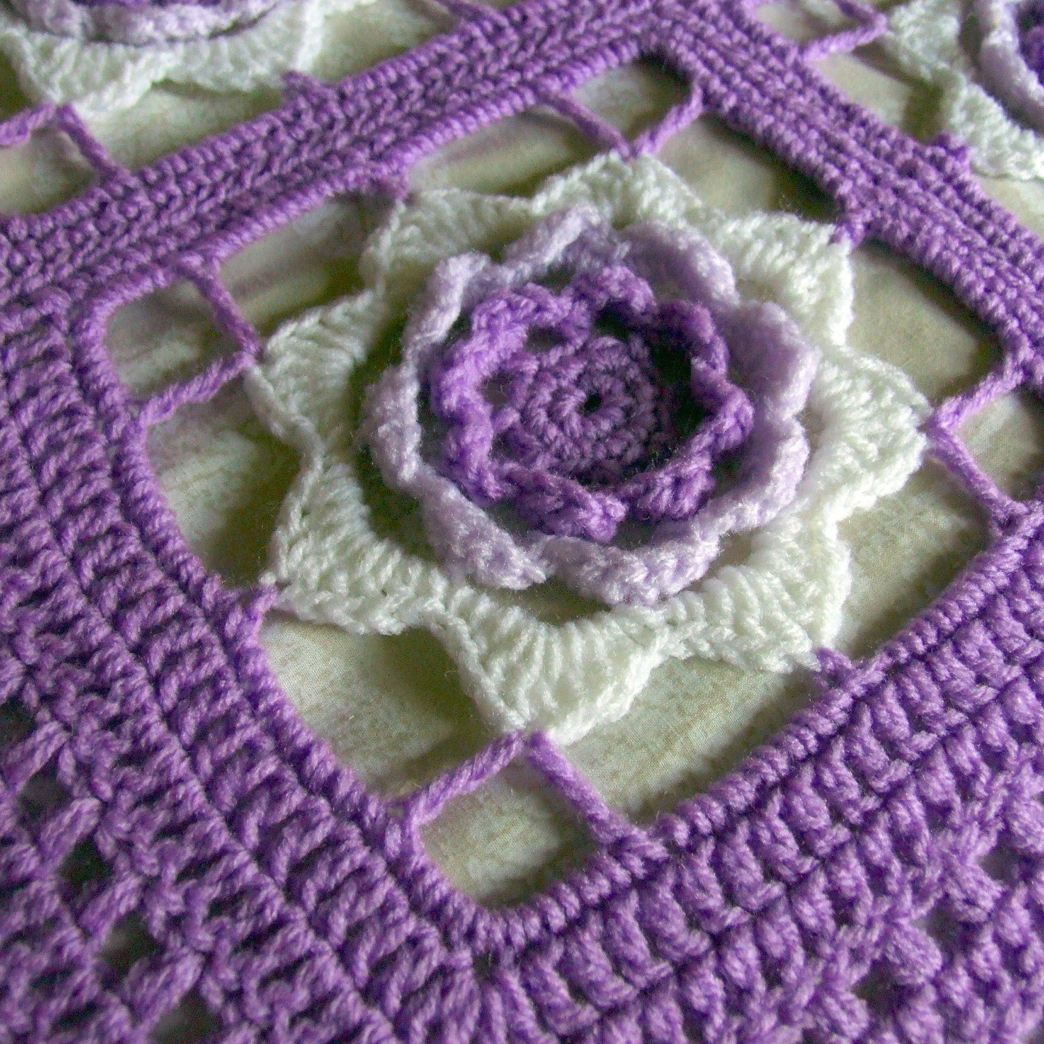 Free Crochet Patterns Beginners Afghan : ROSE AFGHAN PATTERNS Free Patterns