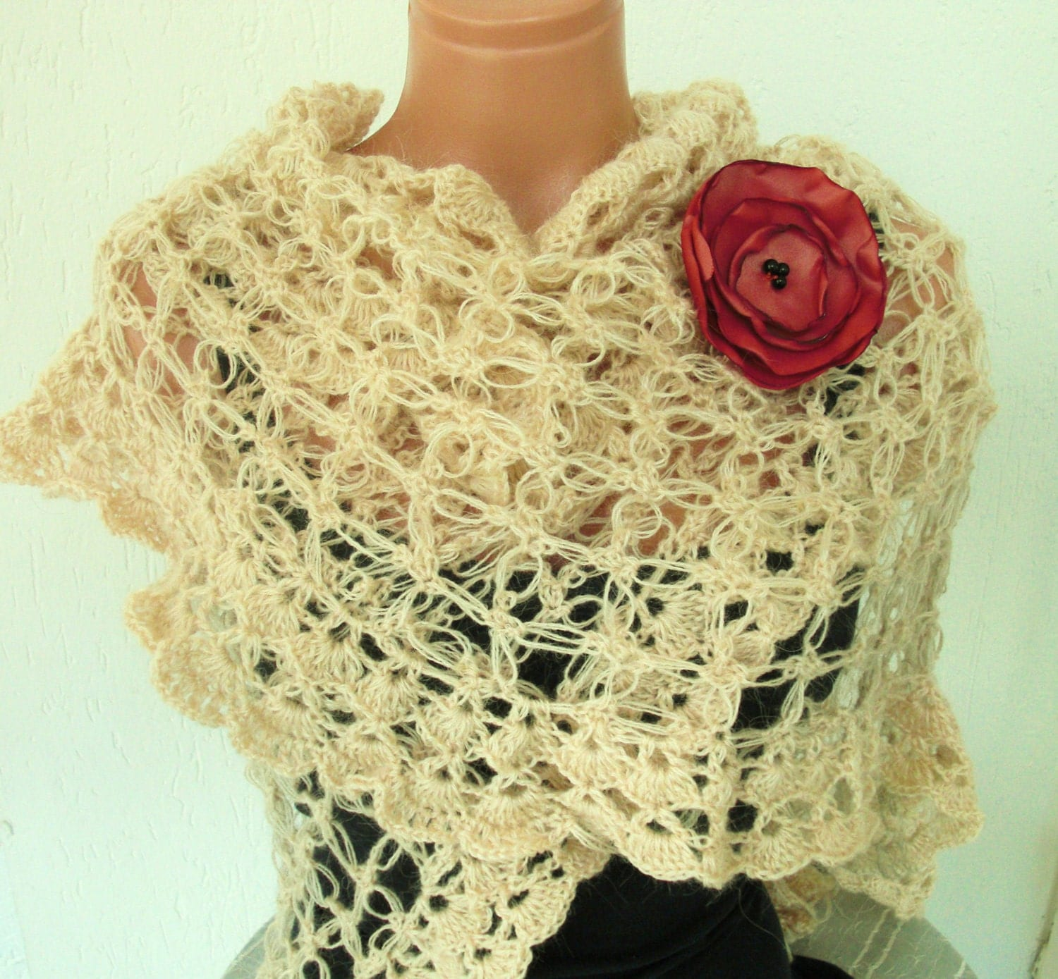 Lacy Crochet Shawl Crochet For Beginners