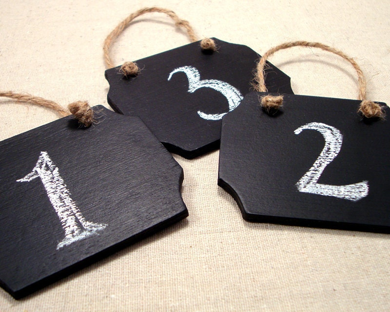 Chalk Board Signs Wedding Table Numbers Rustic Wedding Decor Set of 6