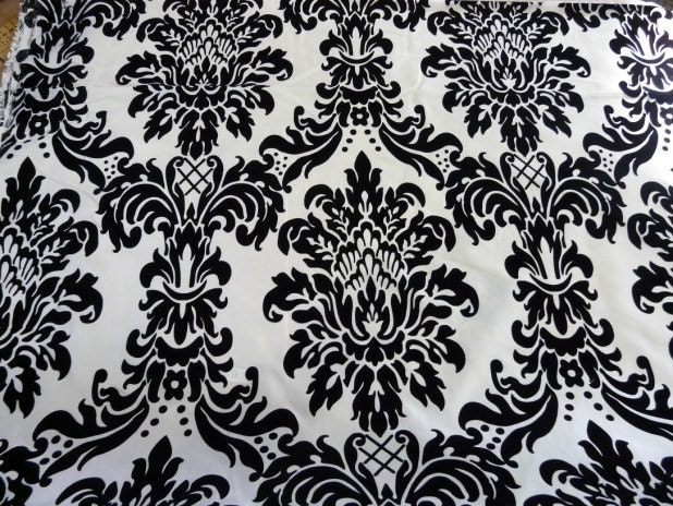 SATIN DAMASK POCKET Square Hanky Tuxedo Black and White