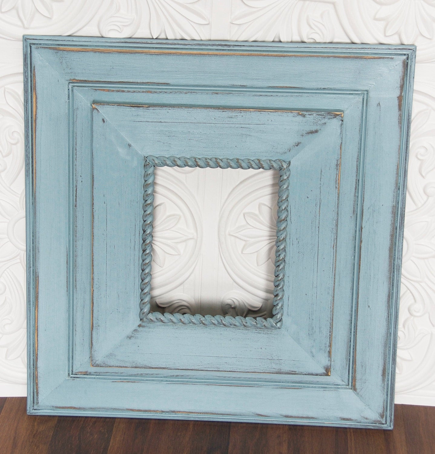 Distressed Wood Frame Picture Collage Pinterest