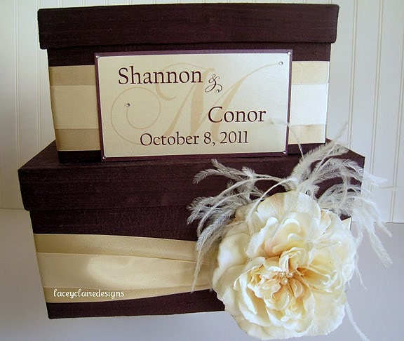 Money Card Box Wedding Card Box Custom Made Money Card Holder Gift Card Box