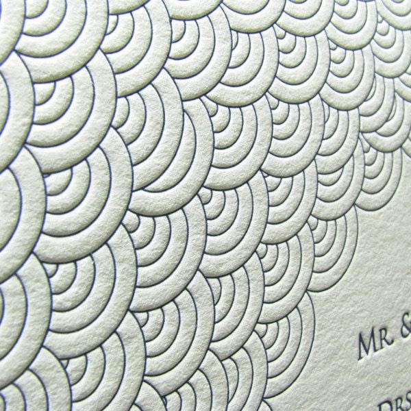 Custom Wedding Invitations Fish Scales From DigbyRose