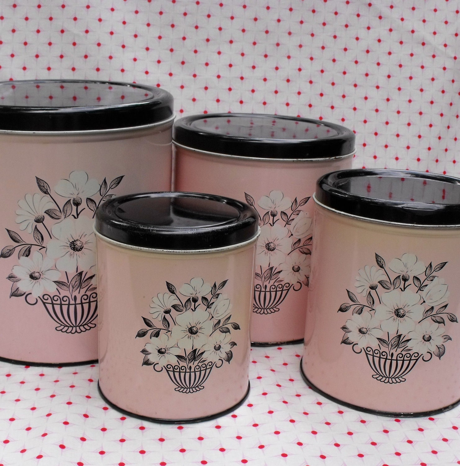 vintage kitchen canister sets vintage chalet canisters and cookie jars things i love today 3822