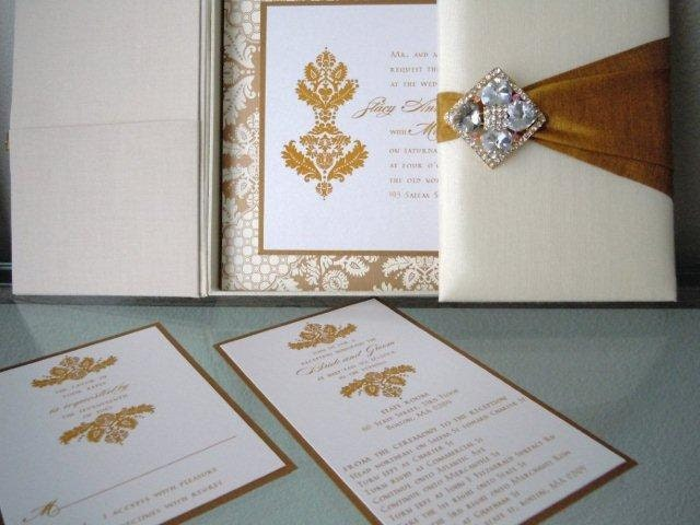100 Silk Crystal Wedding Invitations Boxes ANY COLOR Available