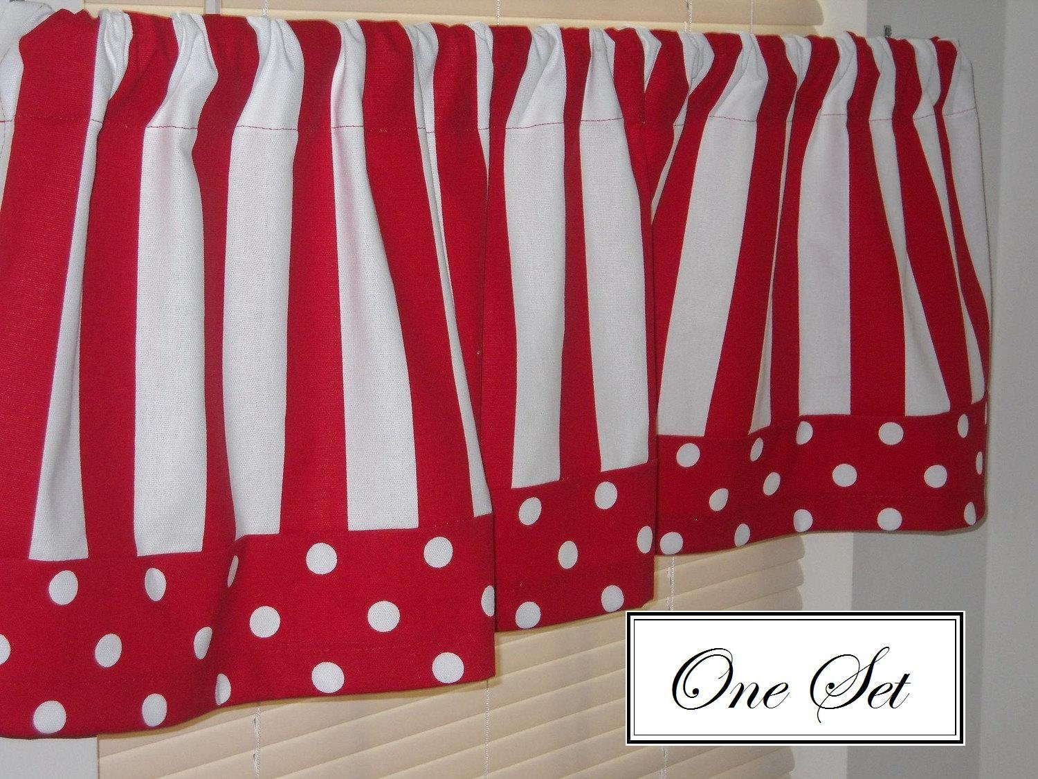 Red Striped Kitchen Curtains The Image Kid Has It